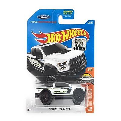 Hot Wheels 2020 HW Hot Trucks '17 Ford F-150 Raptor 129/365, White: Toys & Games
