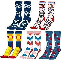 MOOKLIN ROAM 5 pares de Calcetines Estampados Colores Hombres Mujeres Termicos Invierno…