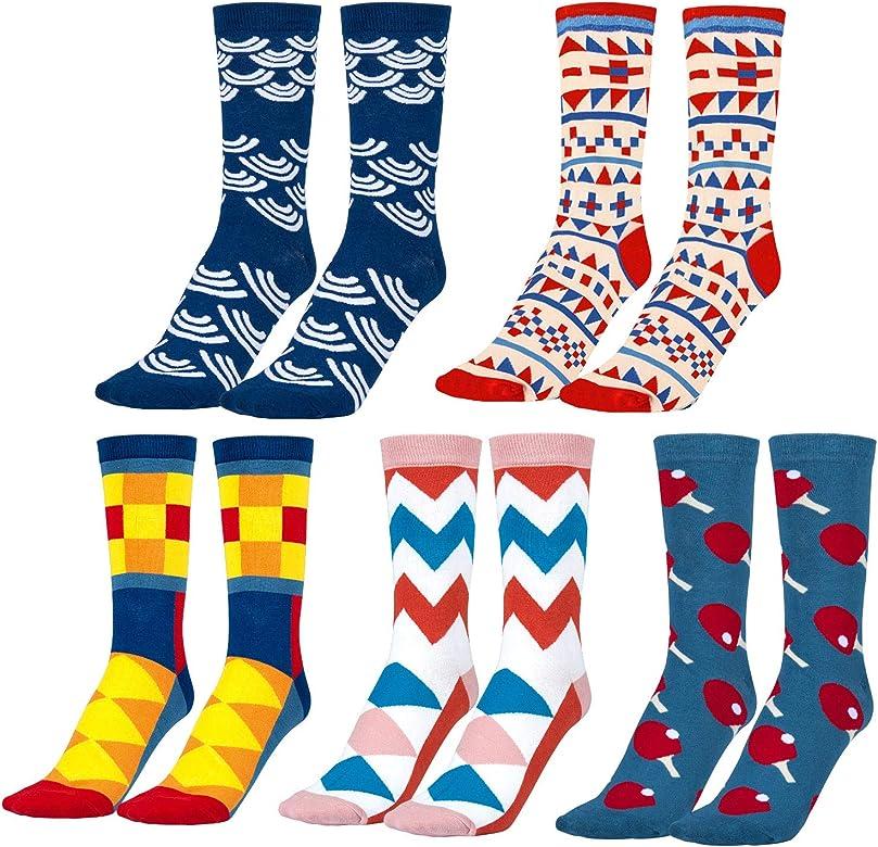 MOOKLIN ROAM 5 pares de Calcetines Estampados Colores Hombres ...