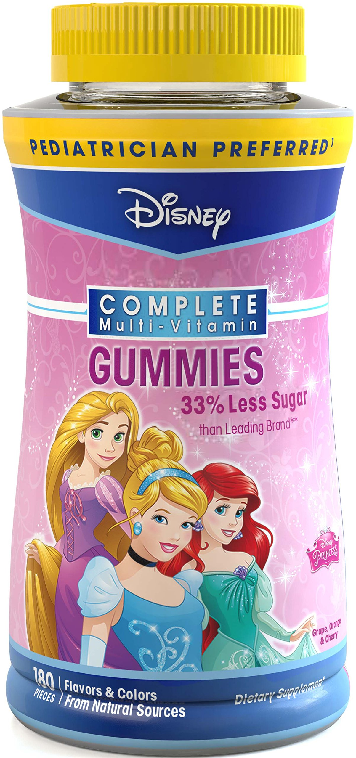 Disney Princess Complete Multi-Vitamin Gummies, 180 Count