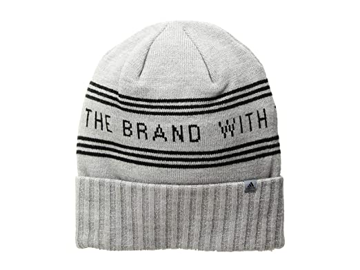 adidas (アディダス) メンズ 帽子 ニット Bantam Graphic Beanie Heather Grey Black  サイズOneSize e64a89aca42