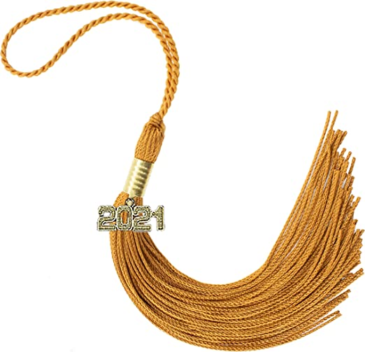"""NEW Class of 2018 White With Silver Charm Jostens Graduation Tassel 9/"""""""