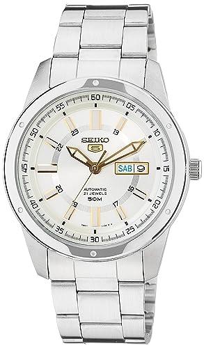Reloj Seiko 5 Gent SNKN11K1 - Analógico Automático para Hombre en Acero Inoxidable: Amazon.es: Relojes