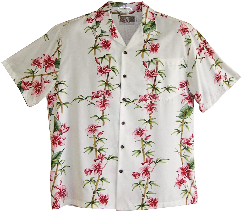 RJC Mens Plumeria Bamboo Rayon Shirt