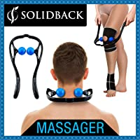 SOLIDBACK | Handheld Deep Tissue Self Massage Tool | Best Massager for Head Neck Legs Feet and Knee Pain Relief | Trigger Point Therapy | Myofascial Release Tools | Accupressure and Reflexology Balls