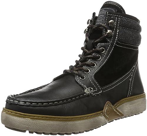 Bugatti K315413, Botines para Hombre, Negro (Schwarz 100Schwarz 100), 45 EU: Amazon.es: Zapatos y complementos