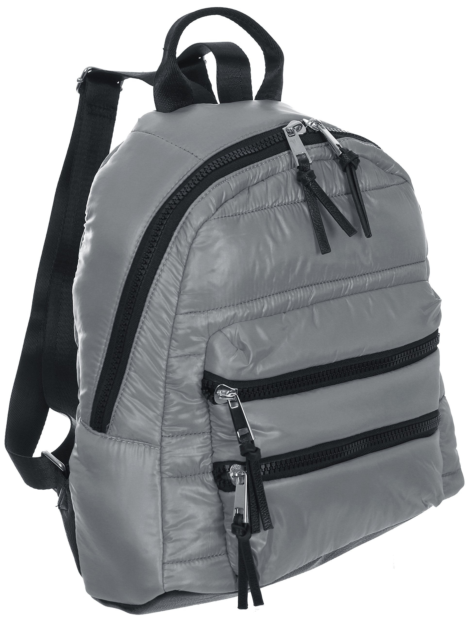 Sondra Roberts Ladies Handbags Quilted Parachute Backpack Grey