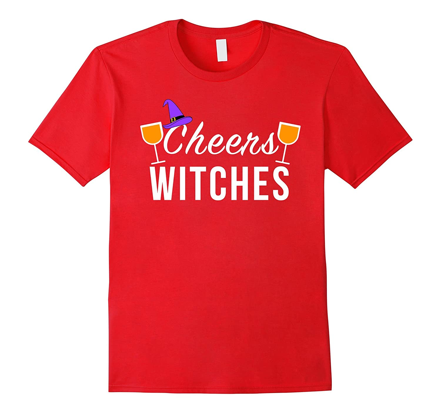 Funny Cheers Witches Shirt, Halloween Witch Shirt, Wine Tee-FL