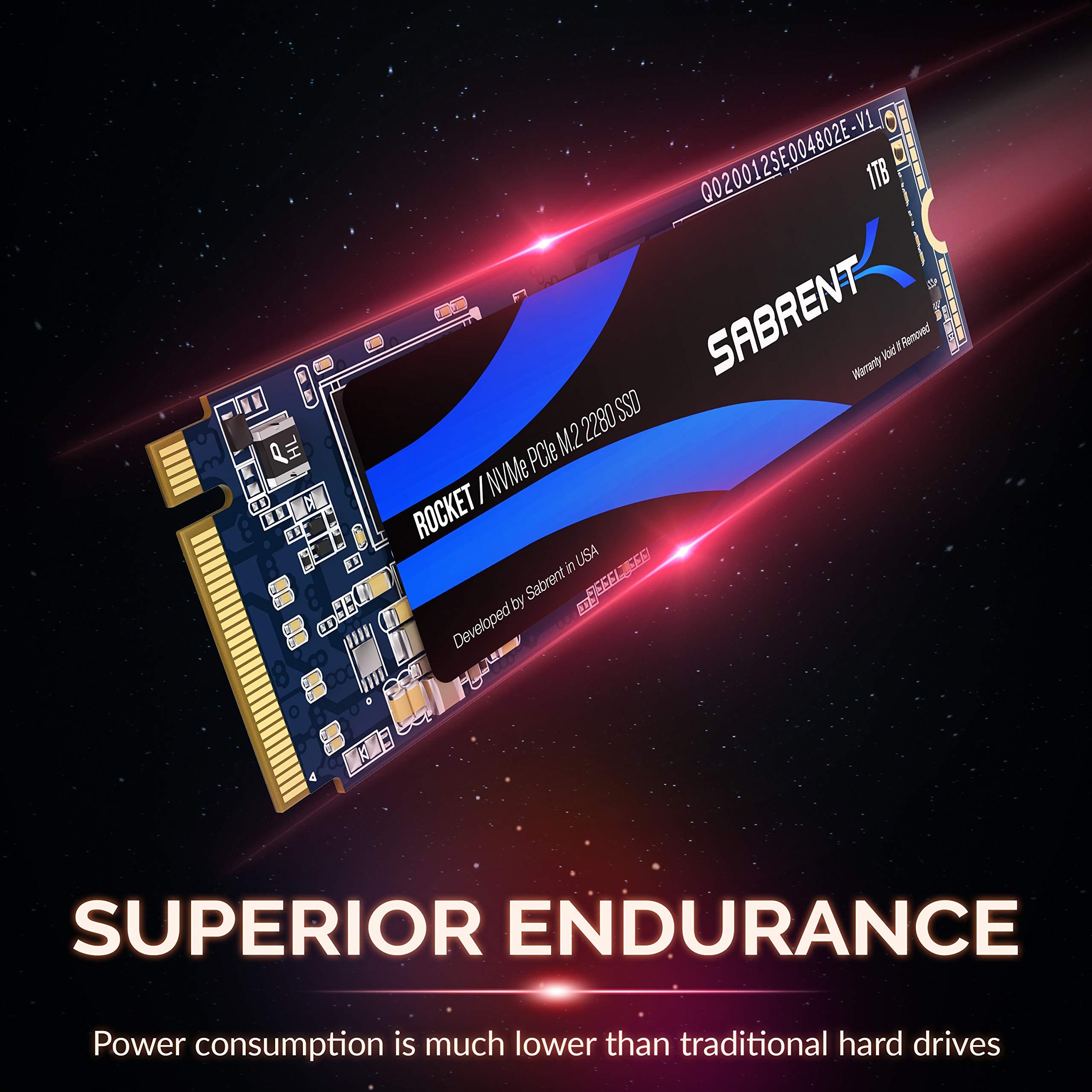 Sabrent 1TB Rocket NVMe PCIe M.2 2280 Internal SSD High Performance Solid State Drive (SB-ROCKET-1TB) by Sabrent (Image #4)