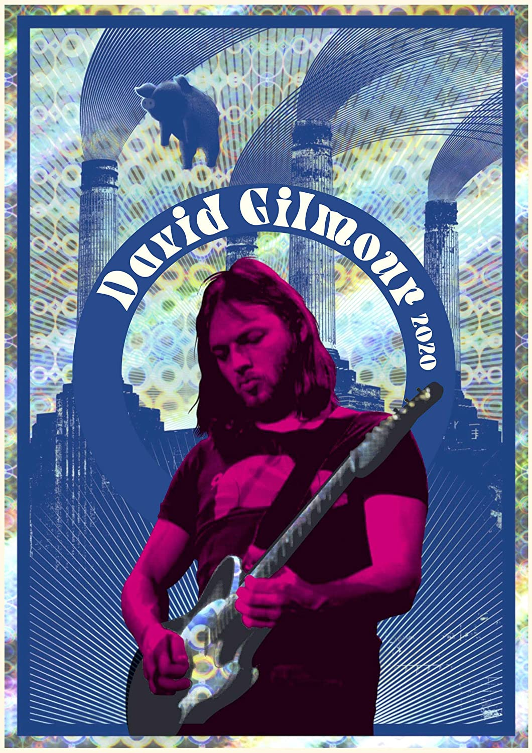 David Gilmour Tour 2020.Wall Calendar 2020 12 Pages 8 X11 David Gilmour Pink Floyd Music Vintage Photo Poster Magazine Cover