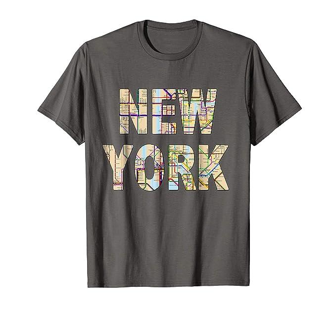 Nyc Subway Map Tshirt.Amazon Com New York City Subway Map T Shirt Awsome Cool Nyc Tee