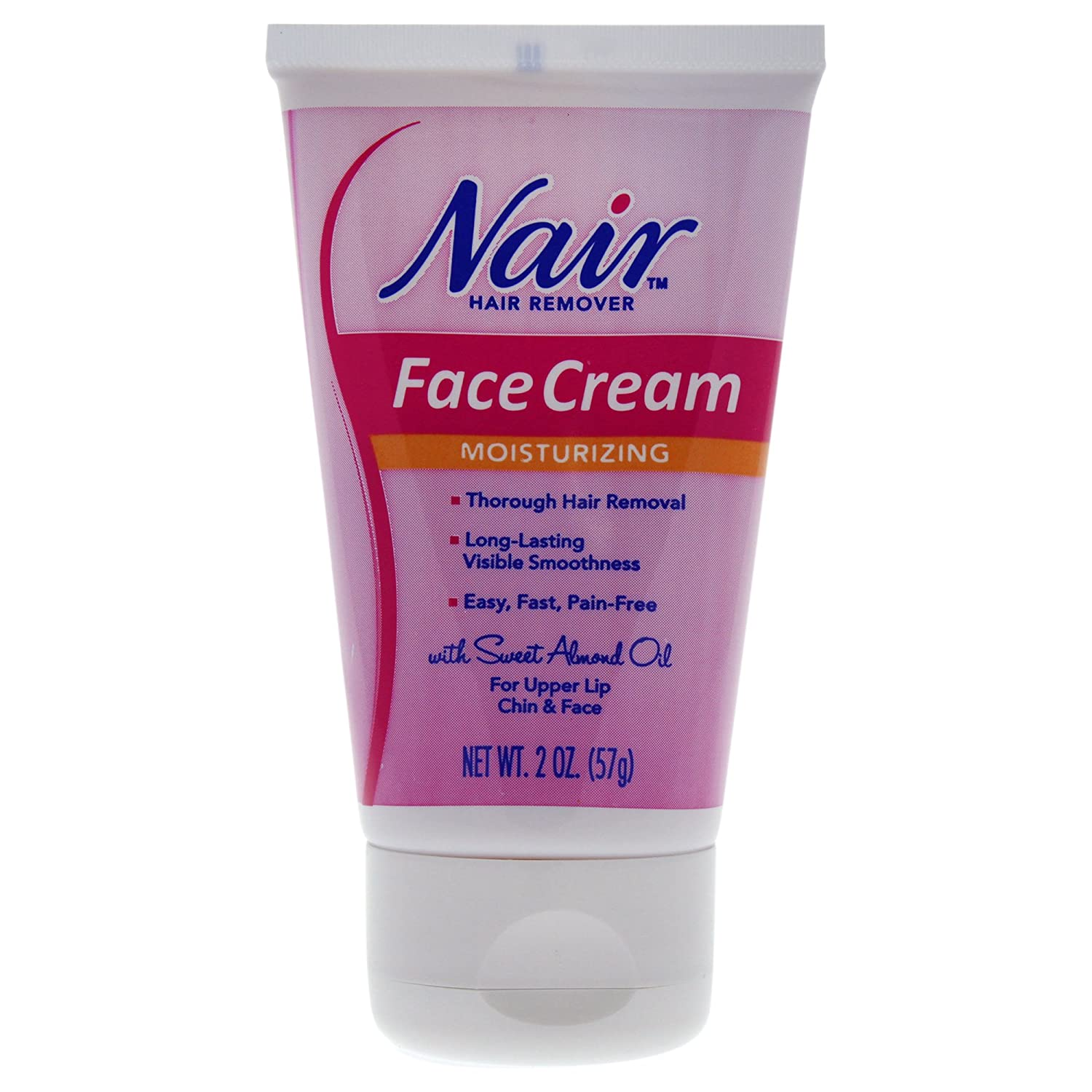 Nair Hair Removal Cream For Face With Special Moisturizers 57g by Nair: Amazon.es: Belleza