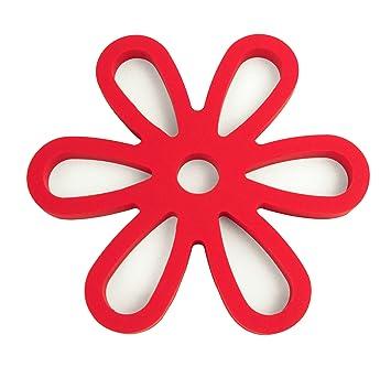YOKO DESIGN 1205 Dessous de Plat Magnétique Silicone/Platine Rouge ...