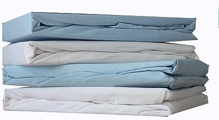 2/piezas 40/cm x 90/cm color blanco y azul Dudu N Girlie algod/ón Jersey cuna cama S/ábanas bajeras