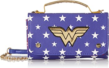 b18bd5c622 Bioworld Merchandising femme Mini Sac A Main Dc Comics Wonder Woman  Pochette Bleu (Bleu)