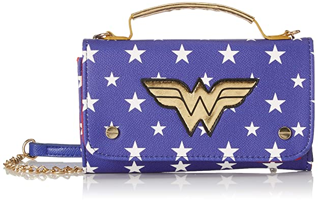 Bioworld Merchandising - Mini Sac À Main Dc Comics Wonder Woman, Carteras de mano Mujer, Azul (Bleu), 4x11x18 cm (W x H L): Amazon.es: Zapatos y ...