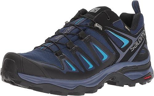 SALOMON Damen X Ultra 3 GTX W Fitnessschuhe, blau, 43.3 EU