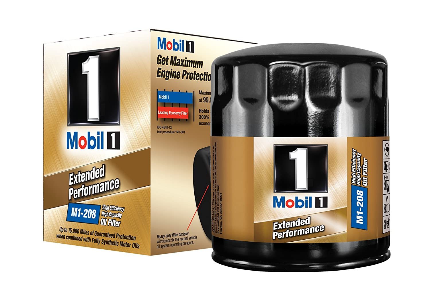 Mobil 1 M1-208 Extended Performance Oil Filter (Pack of 2)