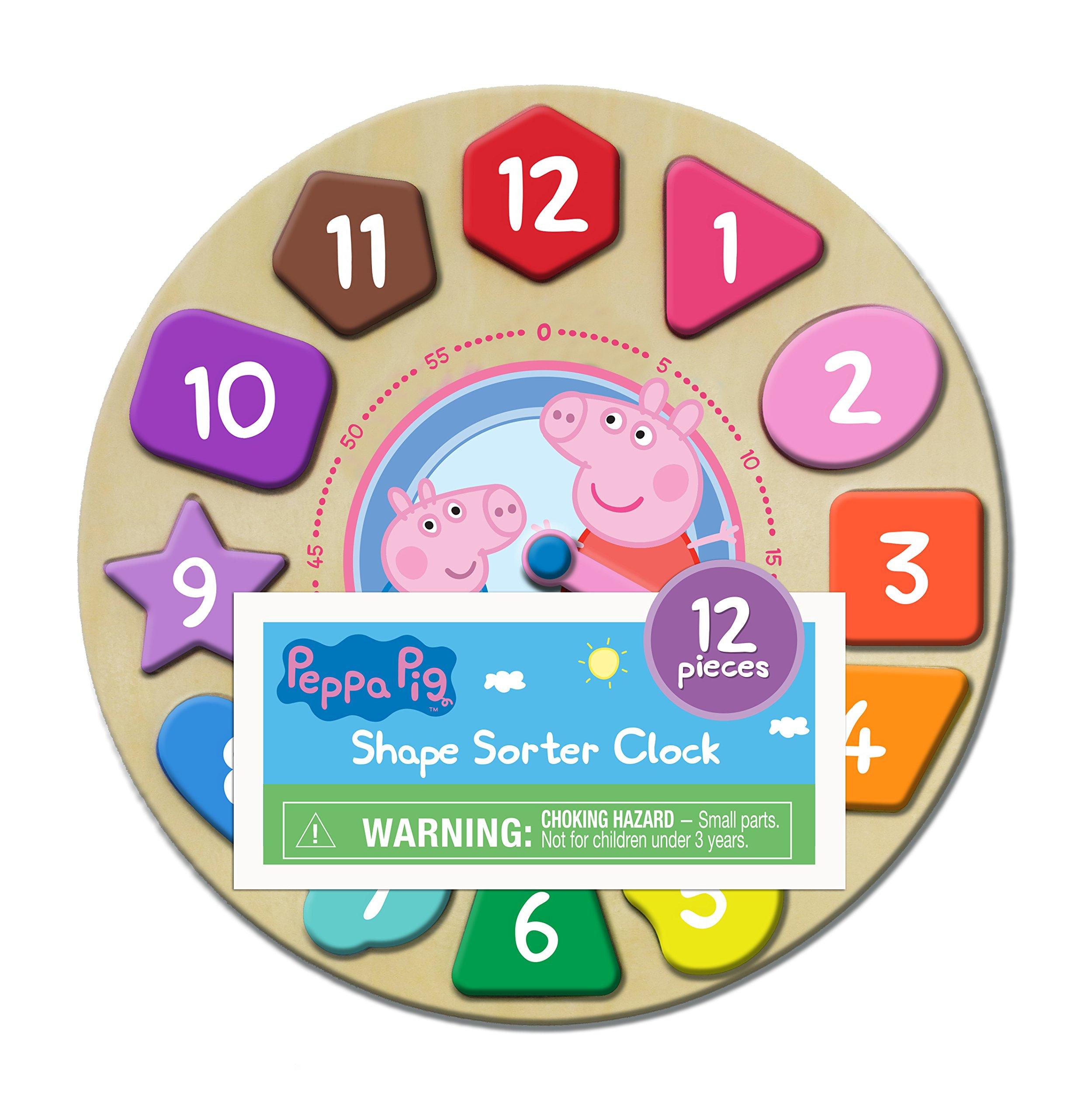 Peppa Pig Shape Sorter Clock Puzzle (12 Piece)