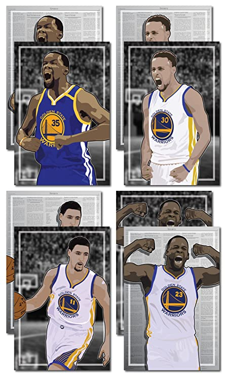 f3426d0f341 Amazon.com  4 Posters of Golden State Warriors - Kevin Durant