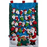 Bucilla 86735 Felt Applique Advent Calendar, Mittens & Stockings