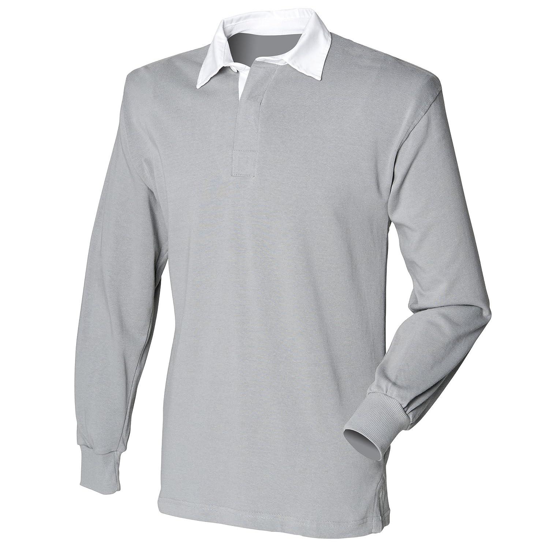Front Row Herren Sport Rugby Shirt, Langarm B00D4N4RFE Langarmshirts Einfaches Leben