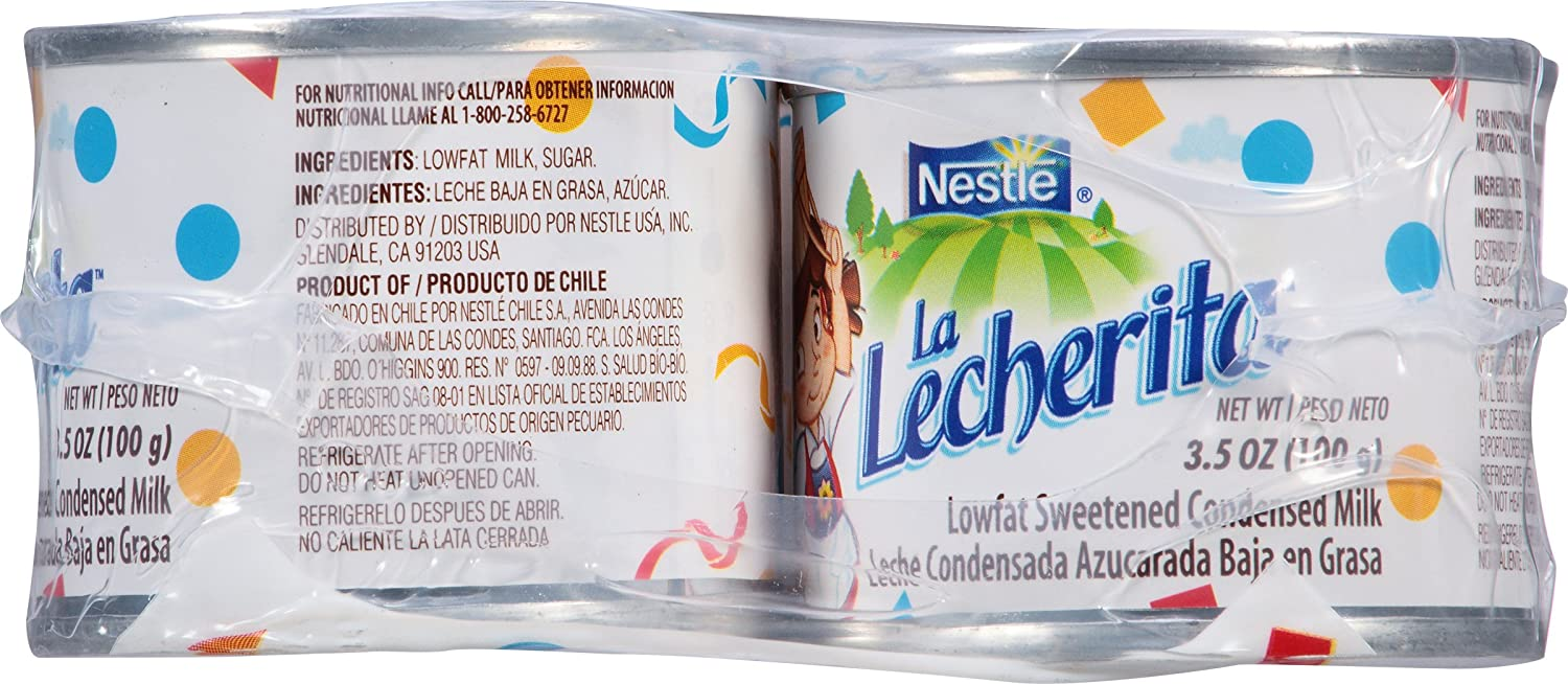 Amazon.com : La Lecherita Lowfat Sweetened Condensed Milk, 6 ct, 21 oz : Sweetened Condensed Milk : Grocery & Gourmet Food