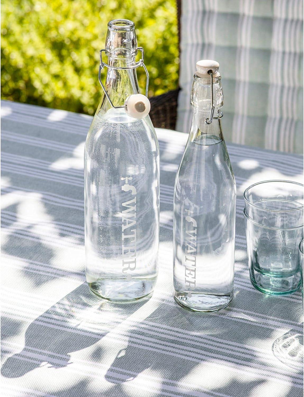 Botella de cristal de estilo retro con parte superior de cer/ámica dise/ño de grifo