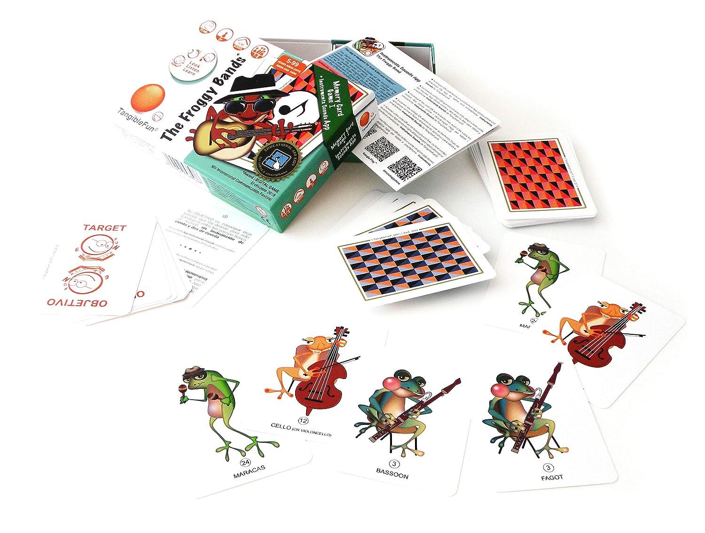 TangibleFun   The Froggy Bands   Juego de Cartas Educativo con App para iPad, Tablet y Smartphones de Sonidos Instrumentos Musicales y Bingo Sounds