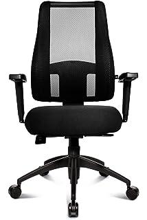 Topstar LT20BTW500 Bürostuhl Lady Sitness Deluxe Inklusive  Höhenverstellbare Armlehnen, Stoff  Und Netzbezug Schwarz