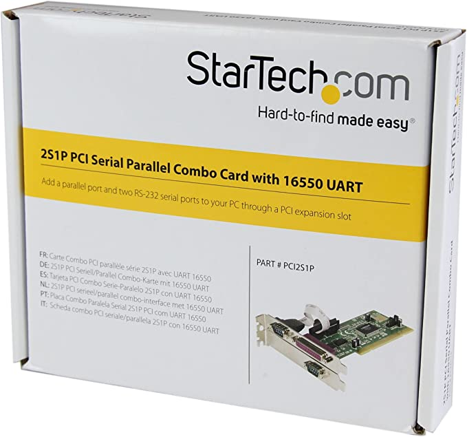 StarTech.com 2S1P PCI Serial Parallel Combo Card with 16550 UART - IEEE 1284 Card - Serial Parallel PCI - PCI Serial Adapter (PCI2S1P)