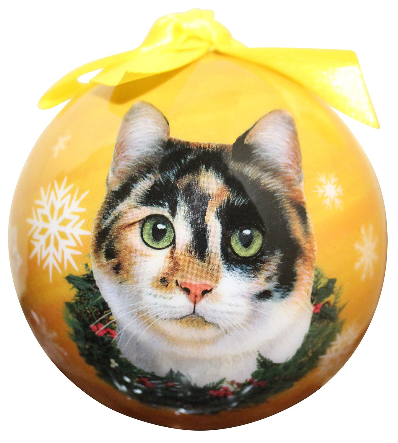 Calico Cat Christmas Ornament Shatter Proof Ball Easy To Personalize A Perfect Gift For Calico Cat Lovers E&S Pets