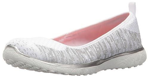 Skechers Microburst-Made-You-Look Zapatillas Mujer Blanco: Amazon.es: Zapatos y complementos