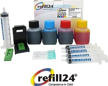 Kit de Recarga para Cartuchos de Tinta HP 301, 301 XL Negro y Color, Incluye Clip y Accesorios + 200 ML Tinta: Amazon.es: Electrónica