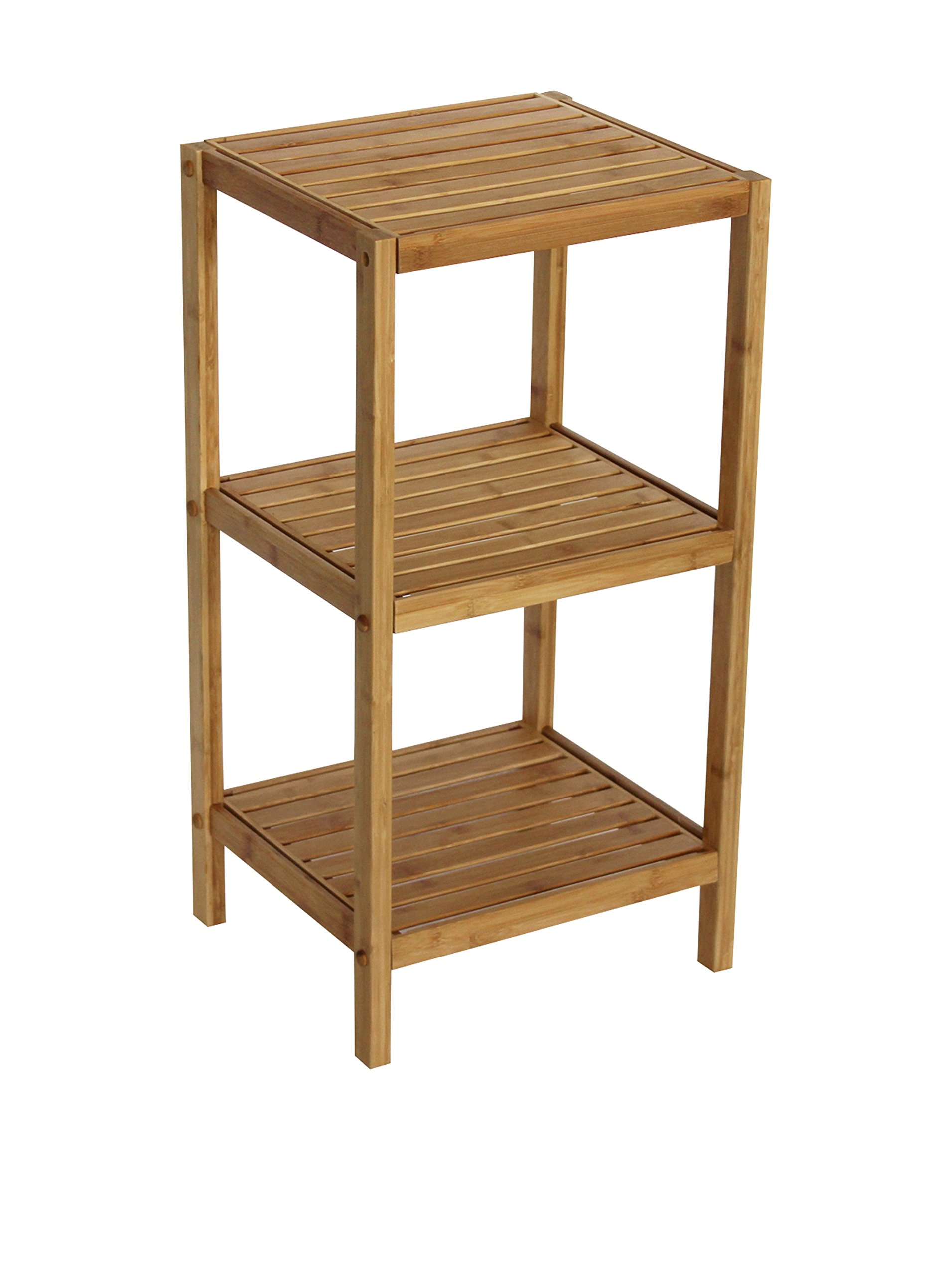 Gallerie Decor Bamboo Spa 3 Shelf Tower