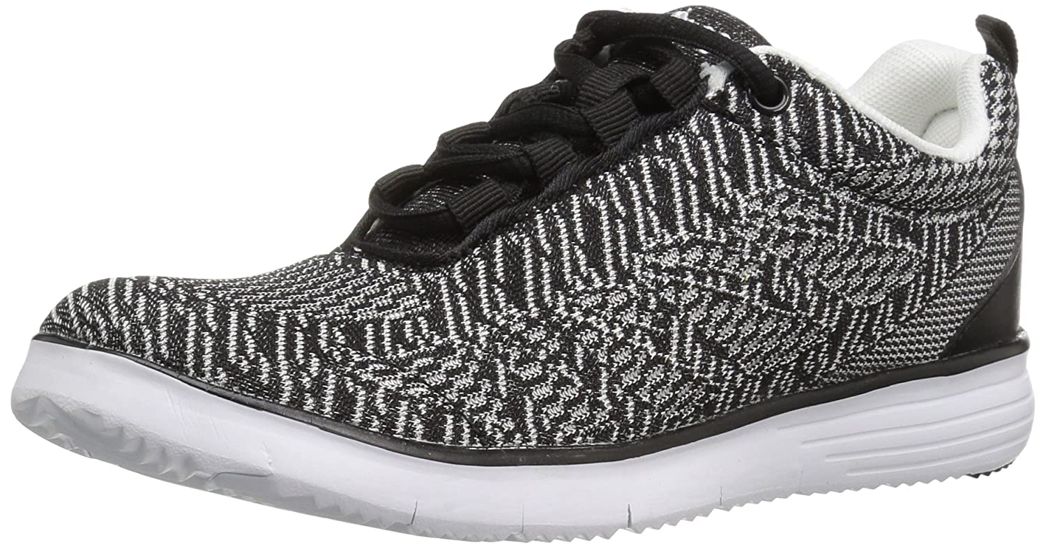 Propet Women's TravelFit Pro Walking Shoe B01KNVHANU 7 4E US|Black/White