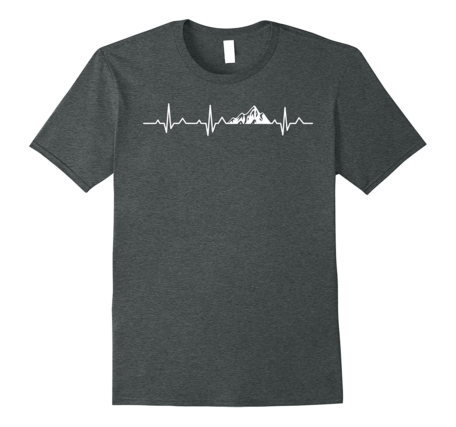 Mountain Heartbeat Graphic Outdoor Climber T-Shirt-Teevkd