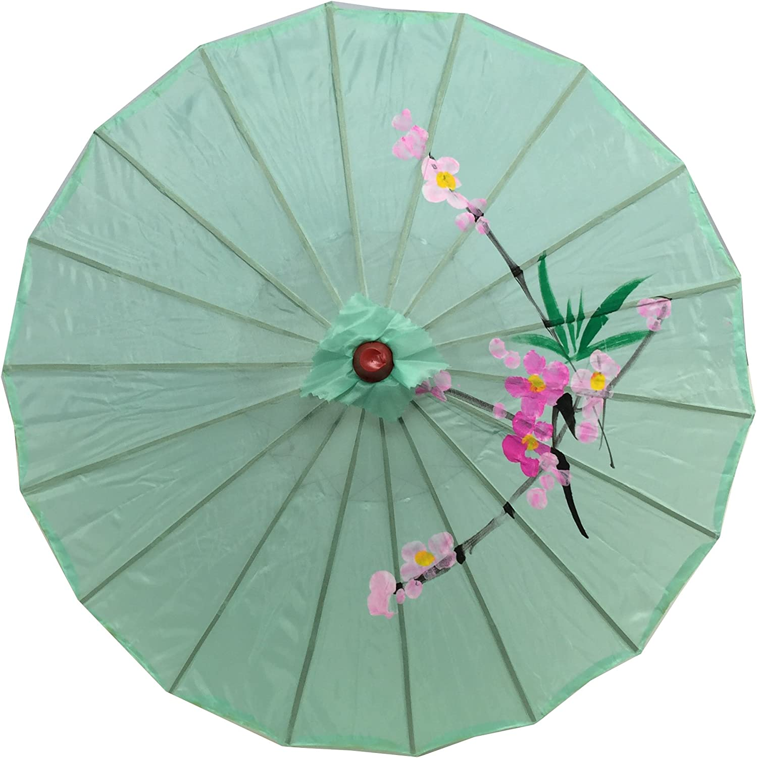 JapanBargain 2195, Asian Parasol Chinese Japanese Nylon Umbrella Parasol for Photography Cosplay Costumes Wedding Party Home Decoration Adult Size, 32 inch, Green