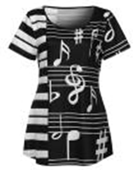 238b9d08481ad Londony Sale ! Musical Notes Blouses