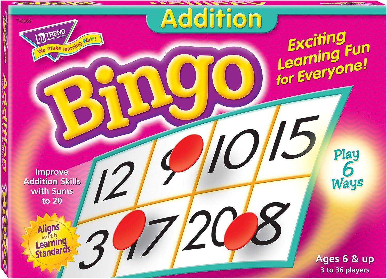 Addition Bingo Game