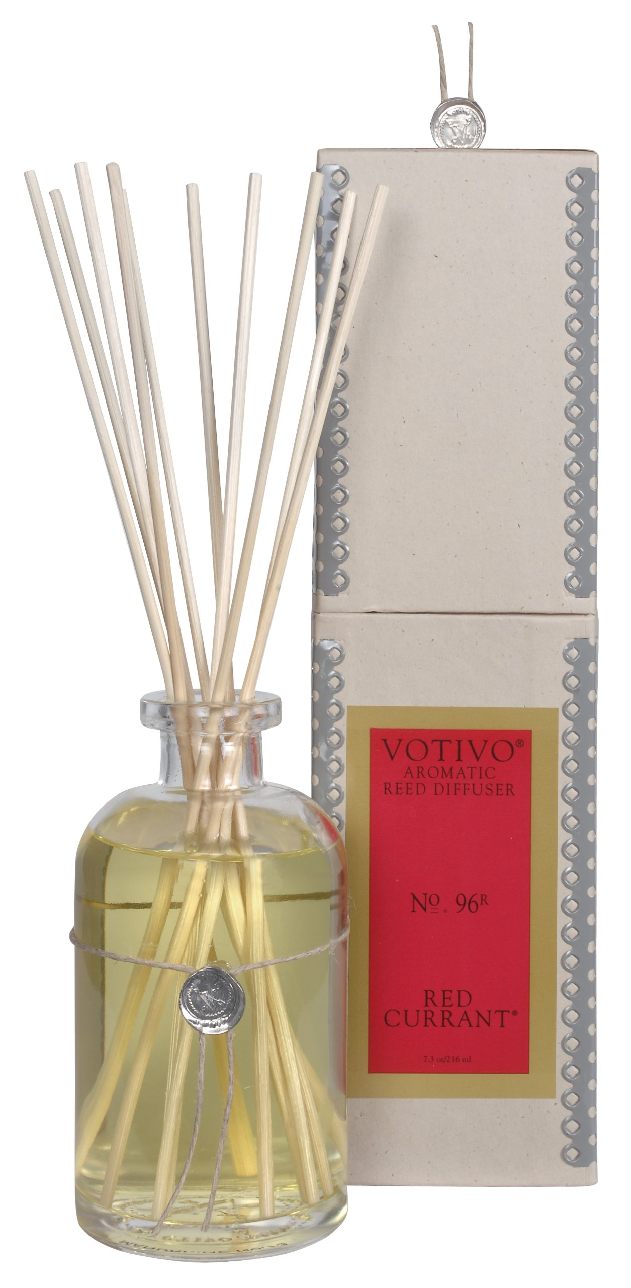 Votivo Aromatic Reed Diffuser, 7.3 fl. oz./216 ml, Red Currant by Votivo