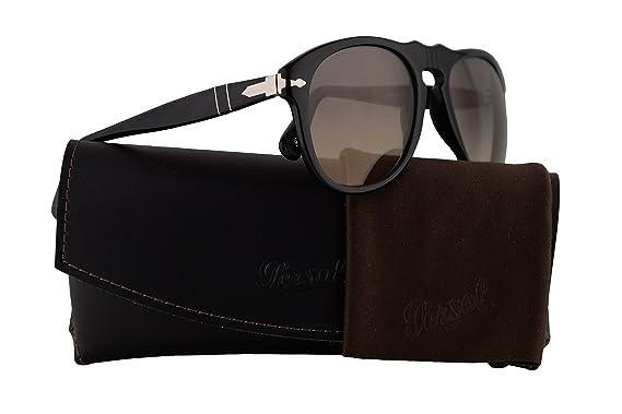 3860c4a3a4 Persol PO0649S Sunglasses Black w Crystal Grey Gradient Lens 9532 54mm PO  0649 PO0649-