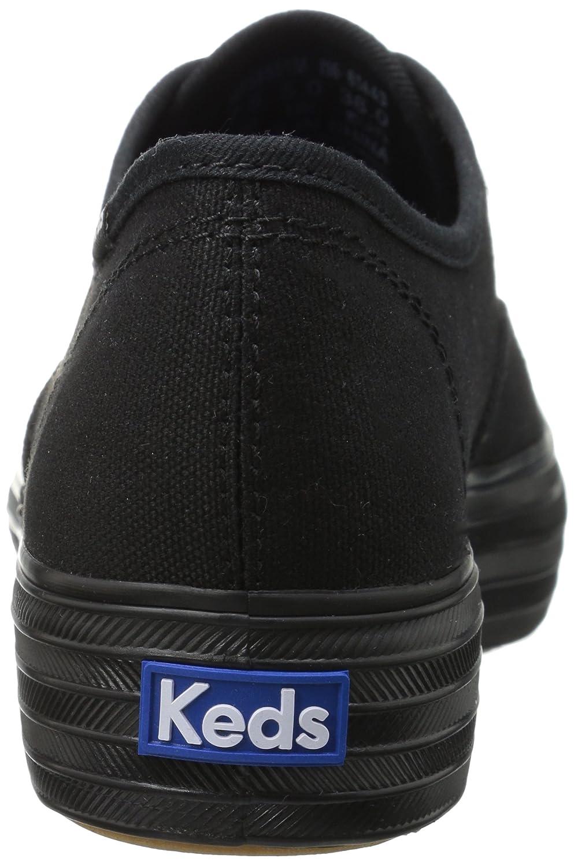 Keds Women's Triple Canvas Fashion Sneaker B01I7L2TCU 5.5 M US Black/Black