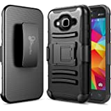 Galaxy J5 2016 Case, NageBee [Heavy Duty] Armor Shock Proof Dual Layer [Swivel Belt Clip] Holster with [Kickstand] Combo Rugged Case for Samsung Galaxy J5 (2016) Release (Black)
