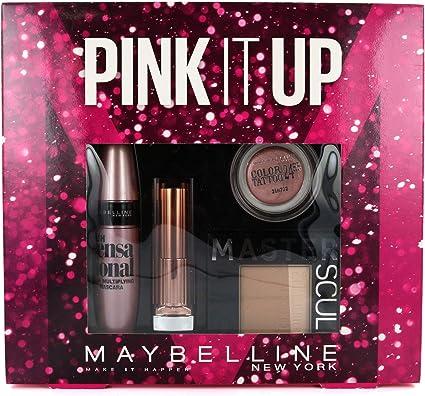 Maybelline Color Rosa It Up 4 piezas en estuche: Amazon.es: Belleza