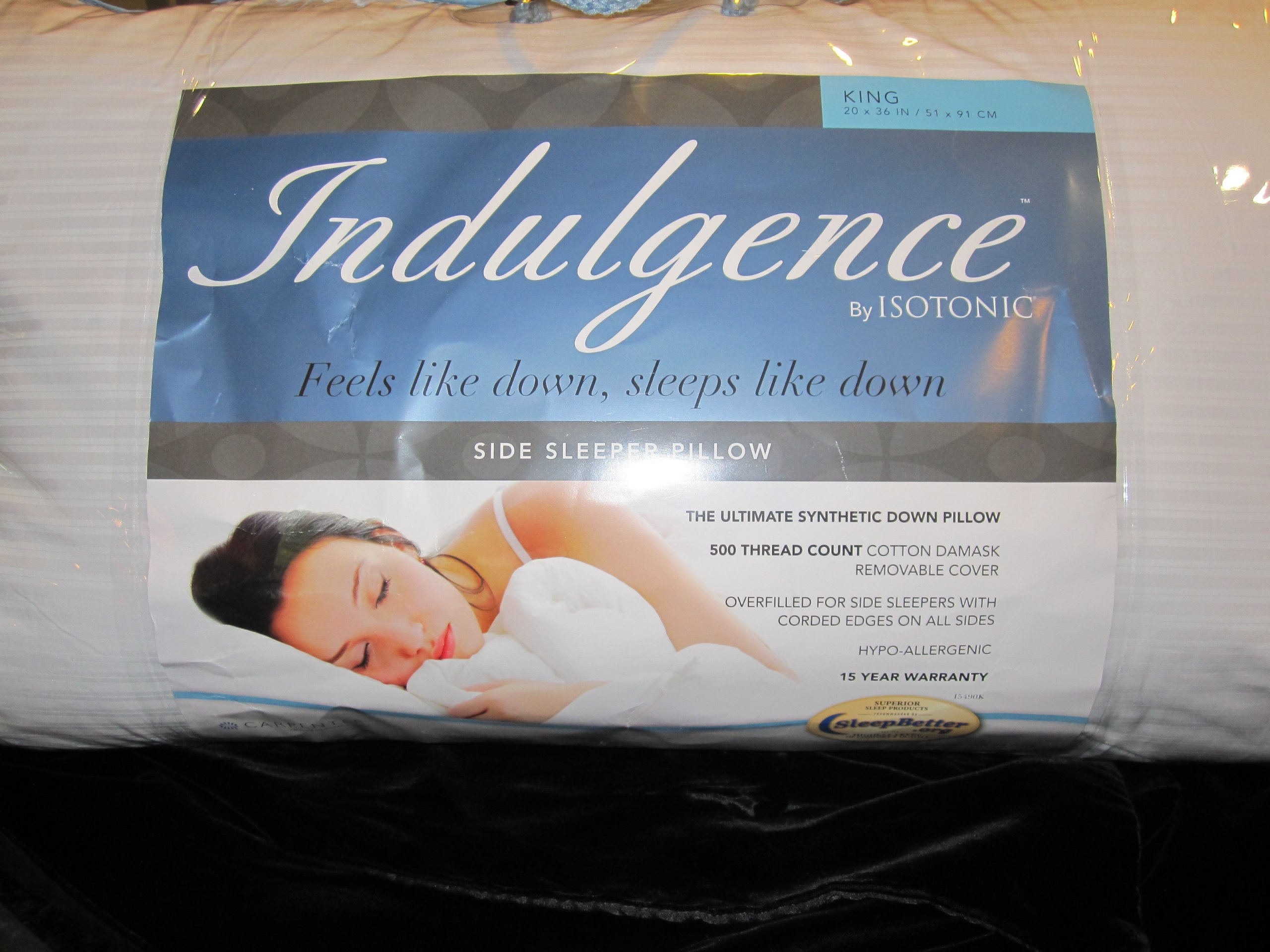 Indulgence Side Sleeper Pillow by Isotonic 36''x20'' King