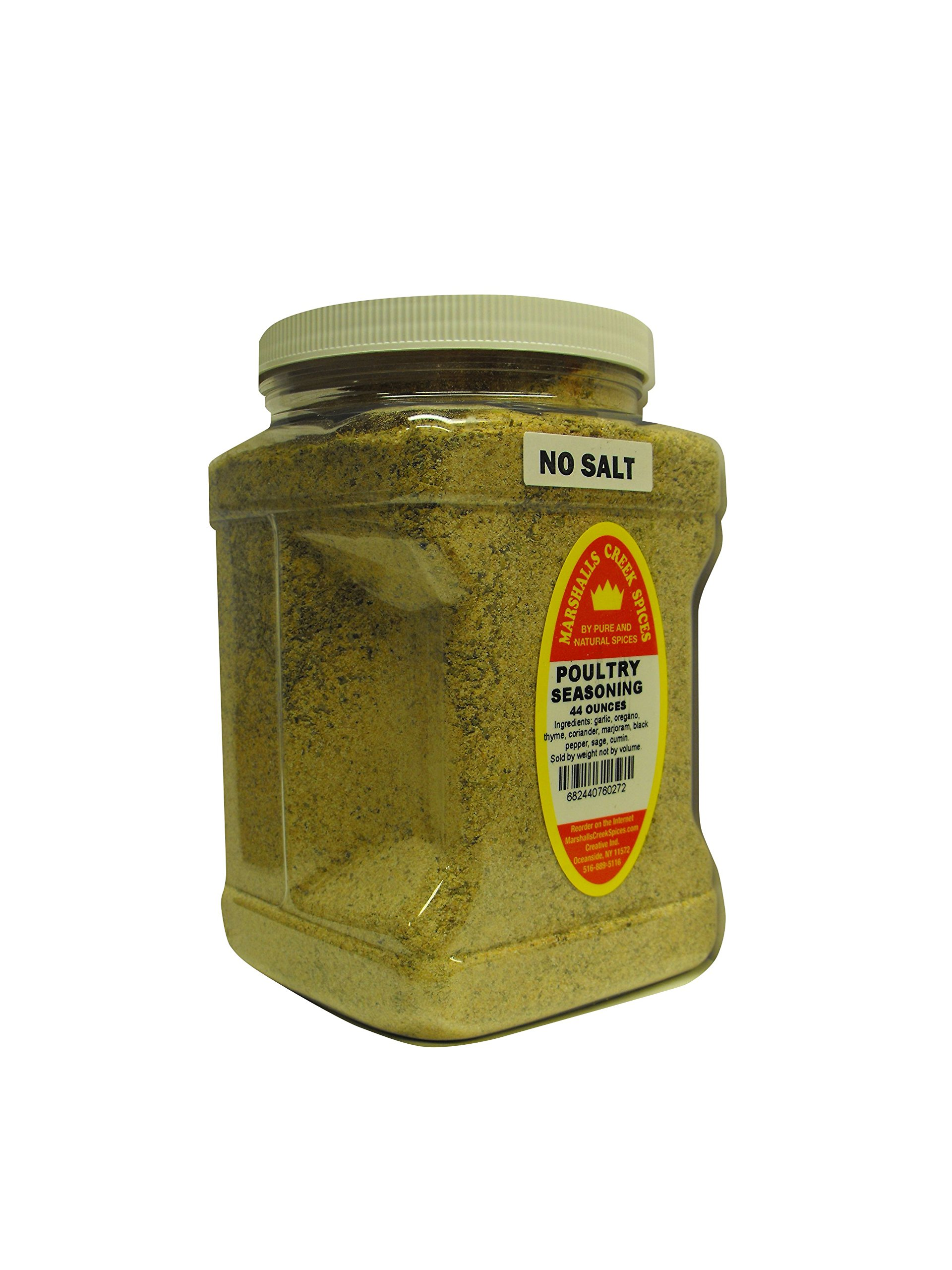 Family Size Marshalls Creek Spices Poultry No Salt Seasoning, 44 Ounce