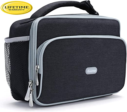 Kids Lava Lunch Lunch Box Insulated Lunch Bag Black Women Large Heated /& Cooled Double Deck Lunch Box for Men