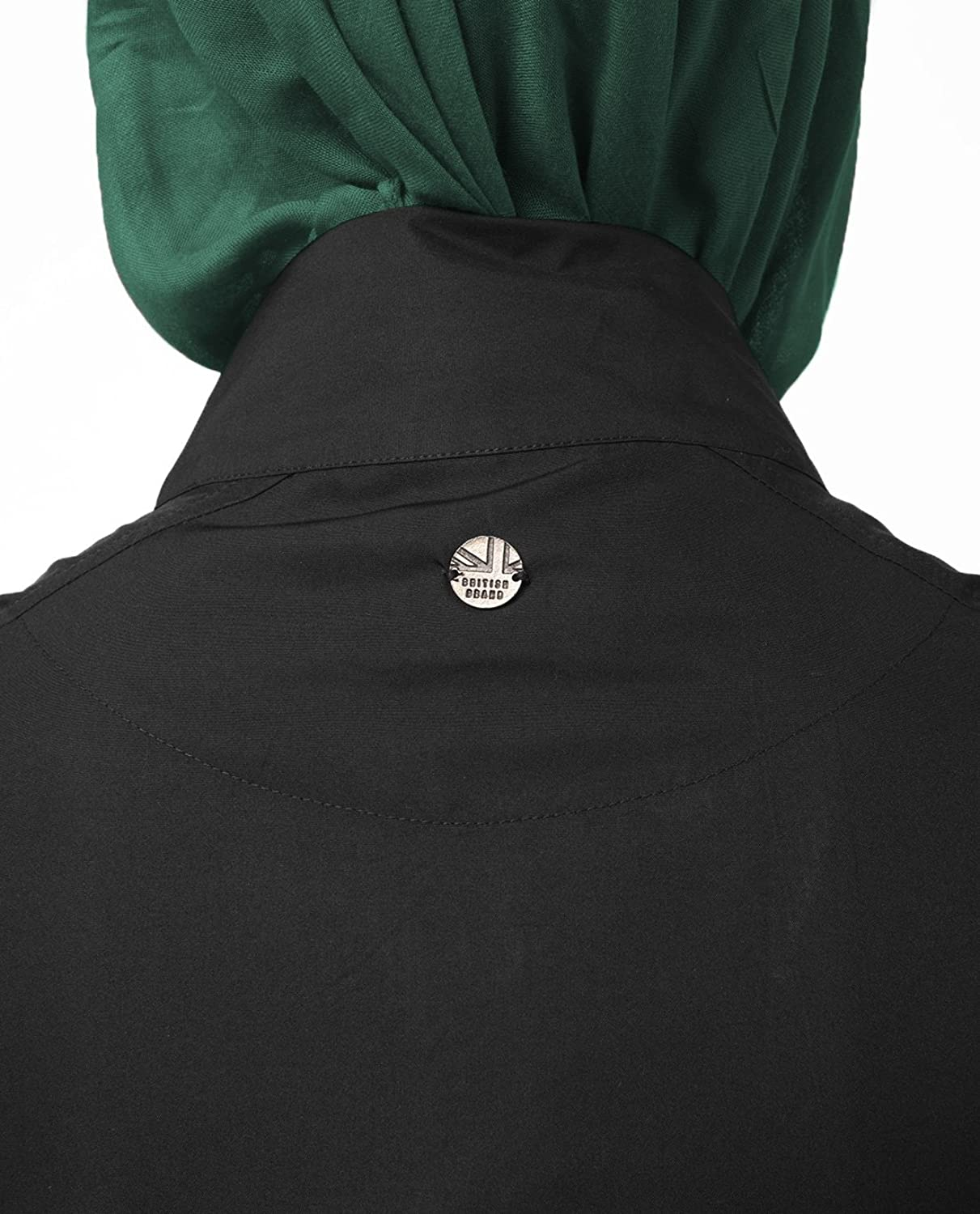 Silk Route Black Knitted Front Zip Sweater Polyester Sporty Maxi Dress Jilbab