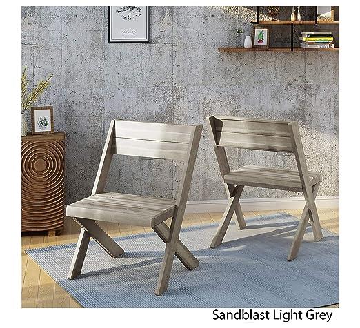 Amazon.com: Furniture Estelle - Sillas de madera de acacia ...